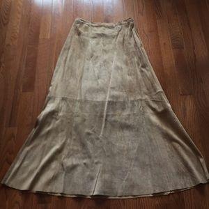 Chico's Suede Long Skirt size 0